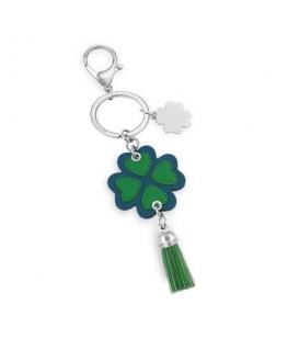 Morellato Keyholder bella four leaf w/green&blu pu
