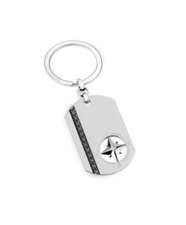 Morellato Keyholder marine metal tag w/ wind rose