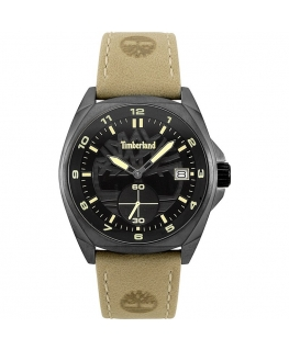 Timberland Hutchington 3h black dial beige leather