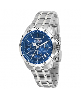 Sector Sge 650 chr 42mm blue dial br ss
