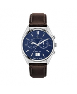Lucien Rochat Lunel 41mm chr blue dial brown st