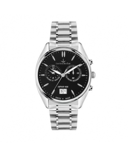 Lucien Rochat Lunel 41mm chr black dial br ss
