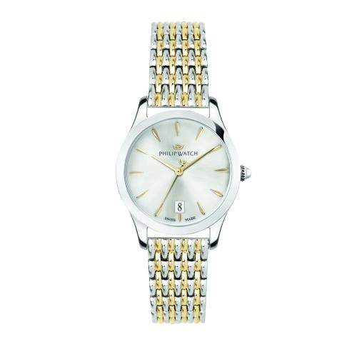 Philip Watch Grace 32mm 3h w/silver dial br ss+yg