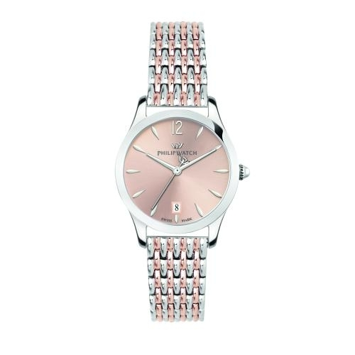 Philip Watch Grace 32mm 3h rose gold dial br ss+rg