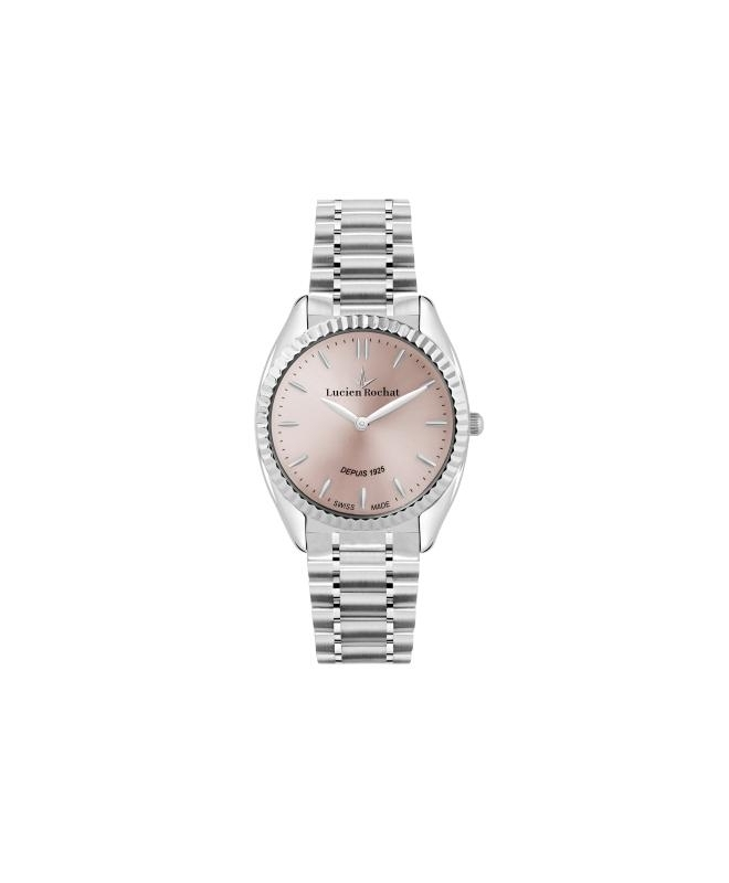 Lucien Rochat Lunel 32mm 2h l.pink dial br ss
