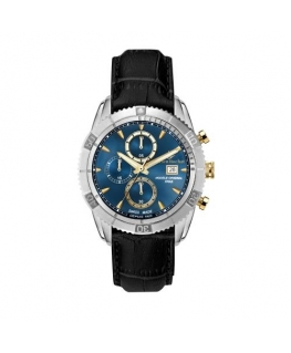 Lucien Rochat Krab 45mm chr blue dial black str
