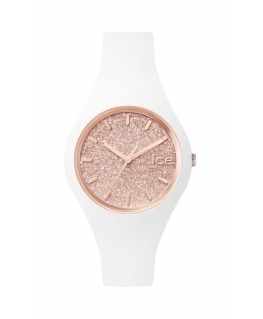 Ice-watch Ice glitter - white rose-gold - small