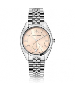 Lucien Rochat Lunel 36mm 3h pink dial br ss