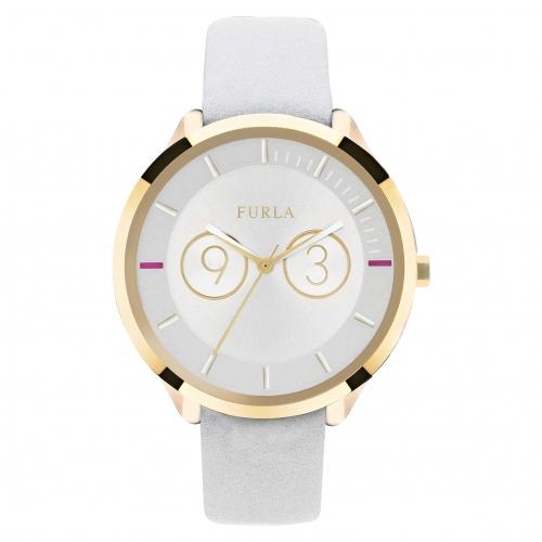 Orologio Furla Metropolis donna pelle bianco oro R4251102503