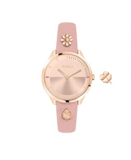 Furla Pin 31mm 2h rg dial pink st with charms