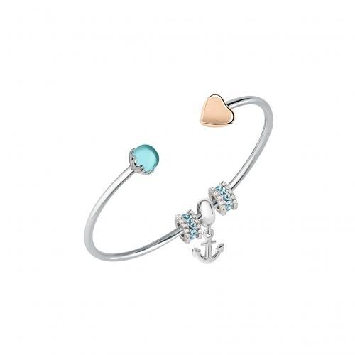 02bba1e9b3f0fc Morellato Drops br. rg heart & aqua + 3 beads