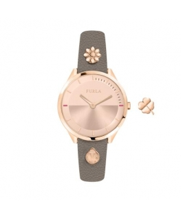 Furla Pin 31mm 2h rg dial ivory st w/charms