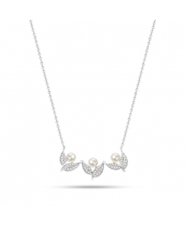 Collana Morellato Natura donna acciaio / 3 perle