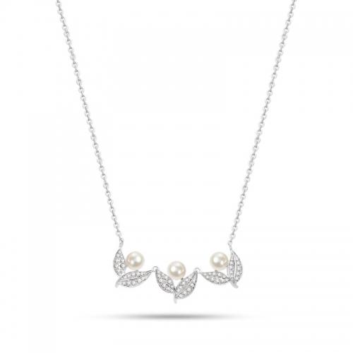Collana Morellato Natura donna acciaio / 3 perle donna SAHL07