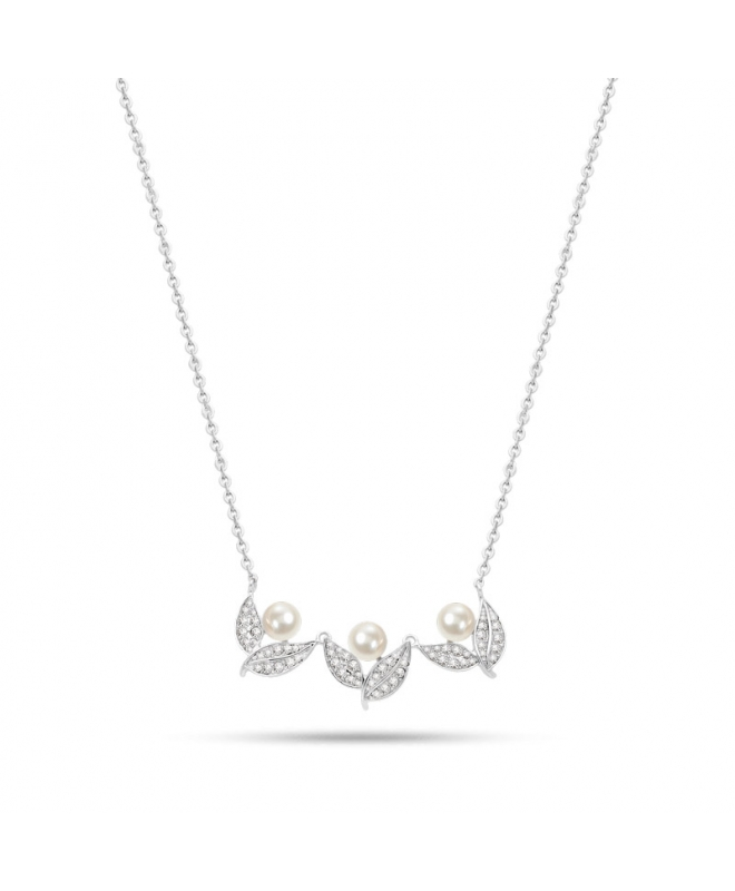 Collana Morellato Natura donna acciaio / 3 perle - galleria 1
