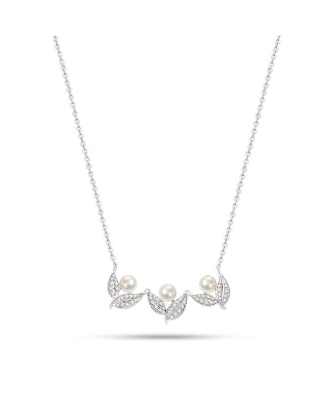 Collana Morellato Natura donna acciaio / 3 perle donna SAHL07 - galleria 1