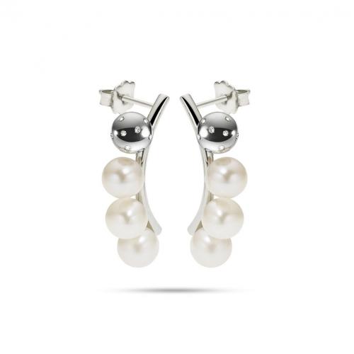 Orecchini Morellato Lunae donna acciaio / 3 perle donna SADX09