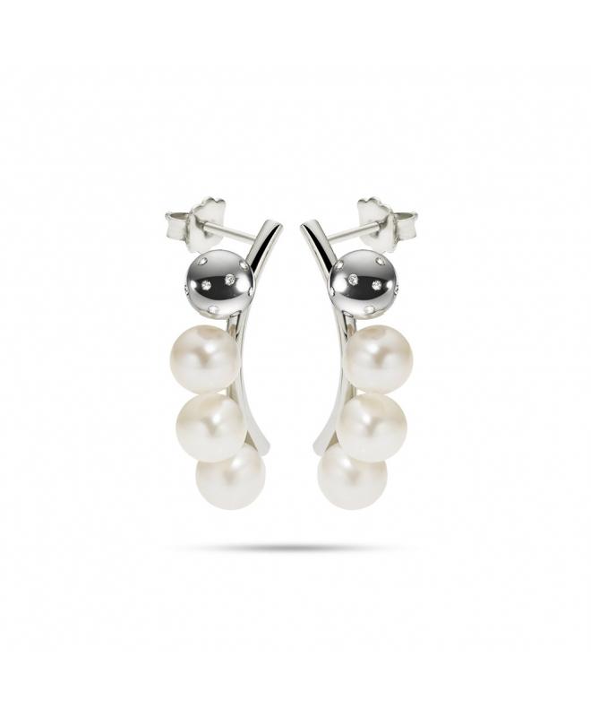Orecchini Morellato Lunae donna acciaio / 3 perle