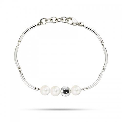 Bracciale Morellato Lunae donna acciaio / 3 perle donna SADX12