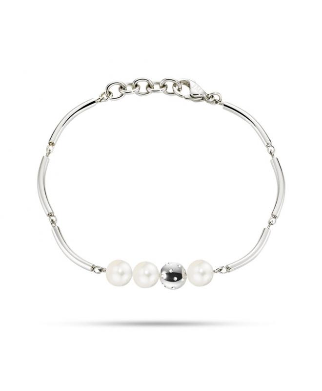 Bracciale Morellato Lunae donna acciaio / 3 perle