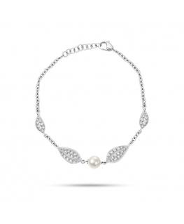 Bracciale Morellato Natura acciaio cristalli / perla