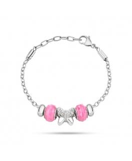 Bracciale Morellato Drops donna farfalla / rosa
