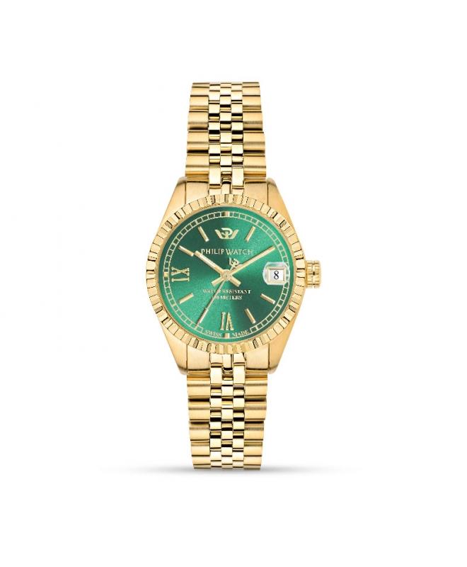 Orologio Philip Watch Caribe donna acciaio oro / verde smeraldo