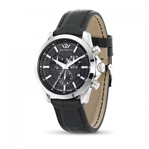 Orologio Philip Watch Blaze uomo pelle nero R8271665004