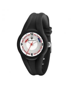 Maserati Campione 28mm 3h white dial black st