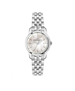 Philip Watch Anniversary 30mm 3h white mop dial br ss