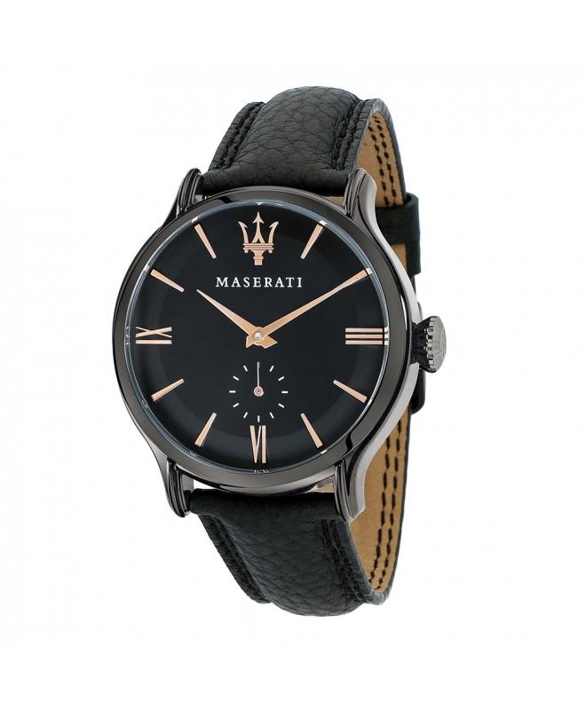 Maserati Epoca ext 42mm 3h black dial black strap uomo - galleria 1