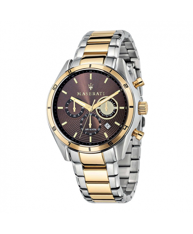 Maserati Sorpasso 45mm chr brown dial br. yg+ss - galleria 1