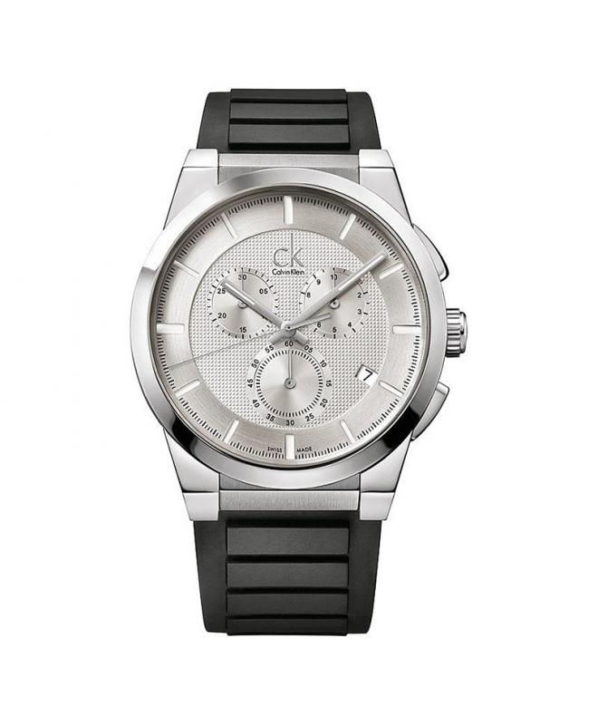 Orologio Calvin Klein Dart uomo gomma / bianco uomo K2S371D6 - galleria 1