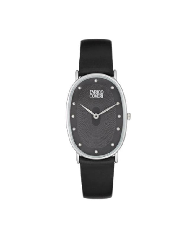 Orologio Enrico Coveri donna ovale pelle / nero - galleria 1
