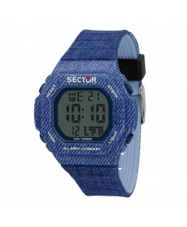 Orologio Sector Ex-12 digitale blu