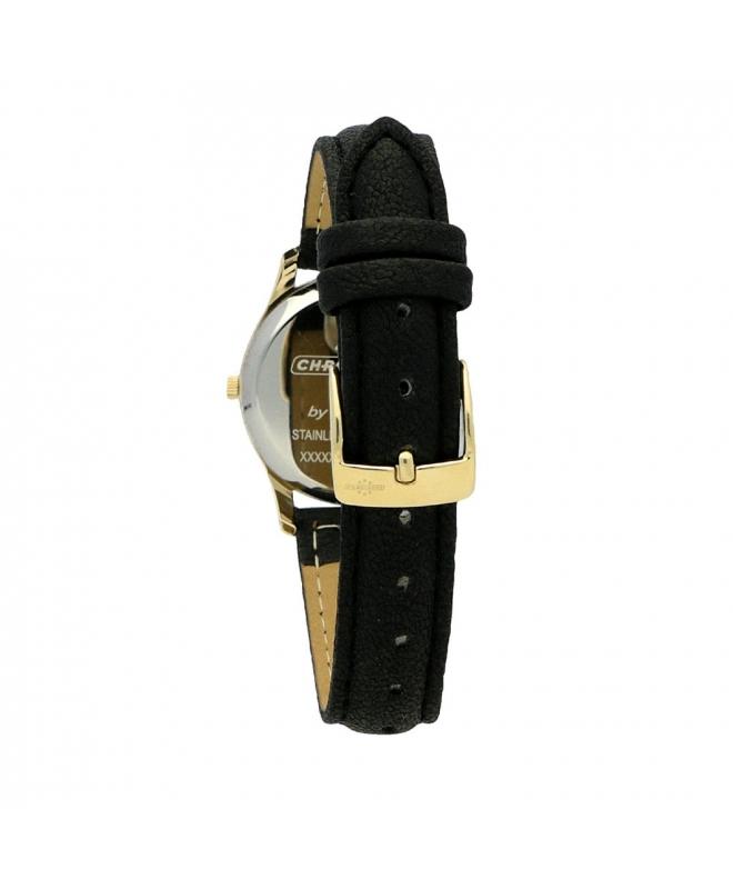 Orologio Chronostar Charles donna pelle nero / oro - galleria 3