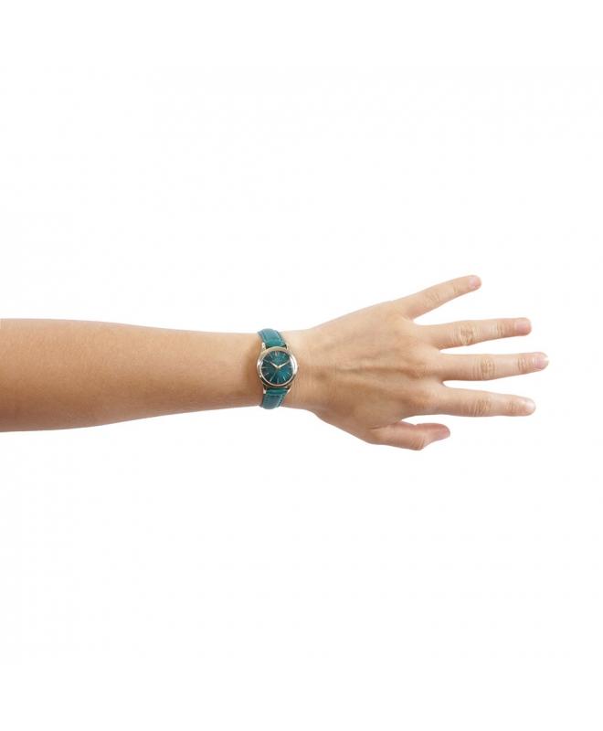 Orologio Chronostar Charles donna pelle verde / oro - galleria 3
