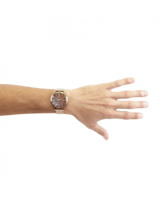Orologio Chronostar Charles uomo acciaio oro rosa - galleria 3
