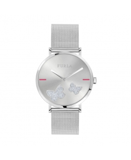 Furla Giada butterfly 36mm 2h white dial ss br