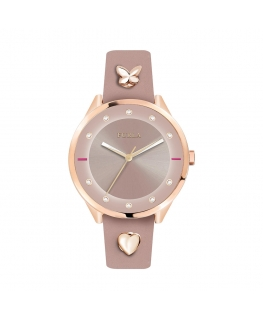 differently 76f51 9ed10 Orologio Furla Pin donna pelle rosa 38mm