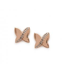 Orecchini Morellato Battito donna oro rosa farfalle