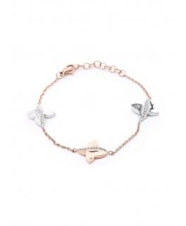 Bracciale Morellato Battito donna oro rosa farfalle