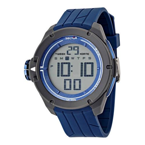 Orologio Sector Ex-03 47mm digital blue uomo R3251589001