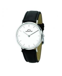 Chronostar Preppy 42mm 2h white dial black str