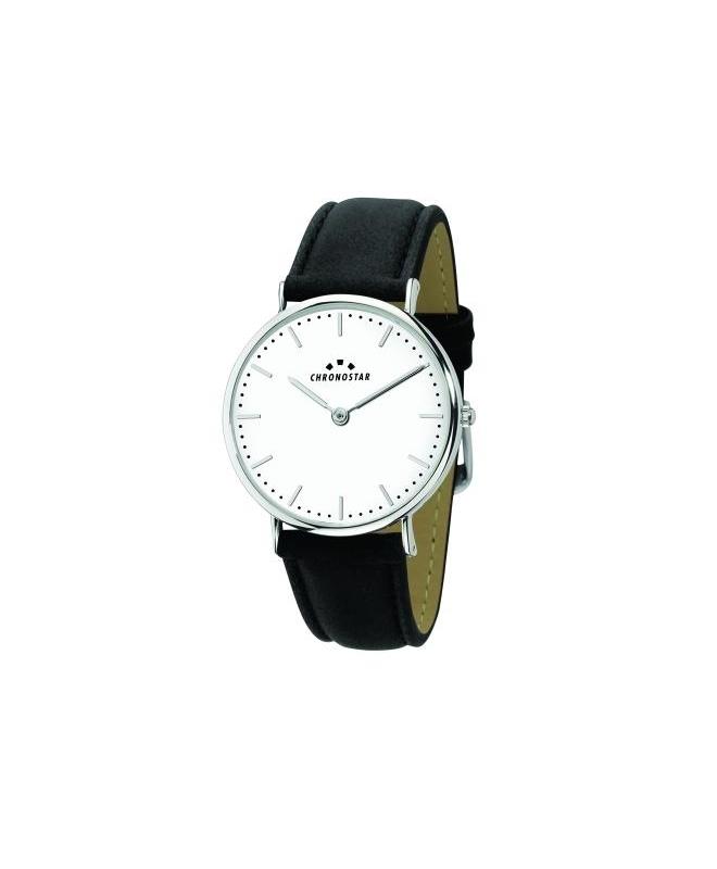 Chronostar Preppy 42mm 2h white dial black str - galleria 1
