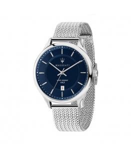 Maserati Gentleman 43mm 3h blue dial ss br