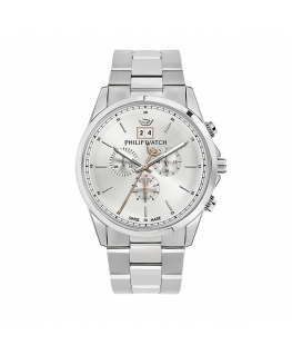 Philip Watch Capetown 44mm chr silver dial br ss