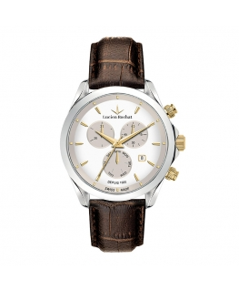 Lucien Rochat Biarritz 41mm chro white dial brown st