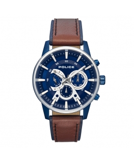 Police Avondale multi blue dial brow&blue st