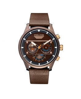Police Vesterbro chr brown dial d.brown strap